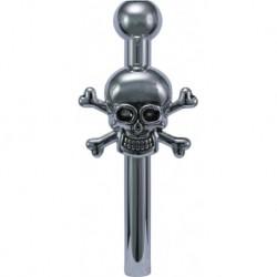 Silver Metal Sniffer Skull...