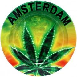 amsterdam neon leaf metal ashtray