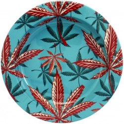 Metal Ashtray - Blue Leaves...
