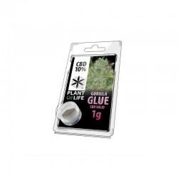 cbd 10% hash solid gorilla glue plant of life