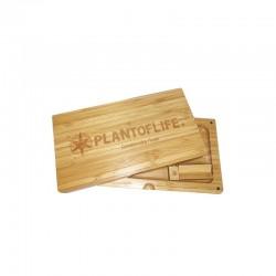 scatola di bamboo per rollare plant of life