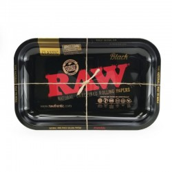 Raw Black Rolling Tray -...