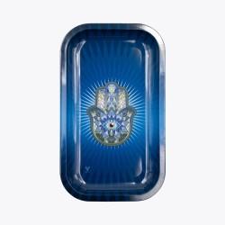 Metal Tray - Hamsa Blu -...
