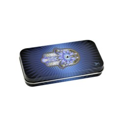 Syndicase Tin Box - Hamsa Blue