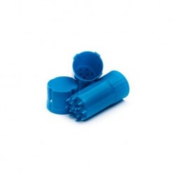 Container with Grinder - Blue