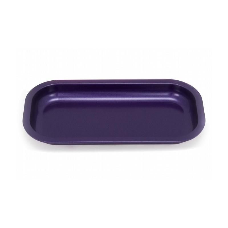 slx non-stick purple aluminium rolling tray. teflon surface