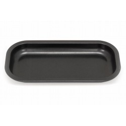 black slx non-stick rolling tray in small size. Teflon ceramic coating