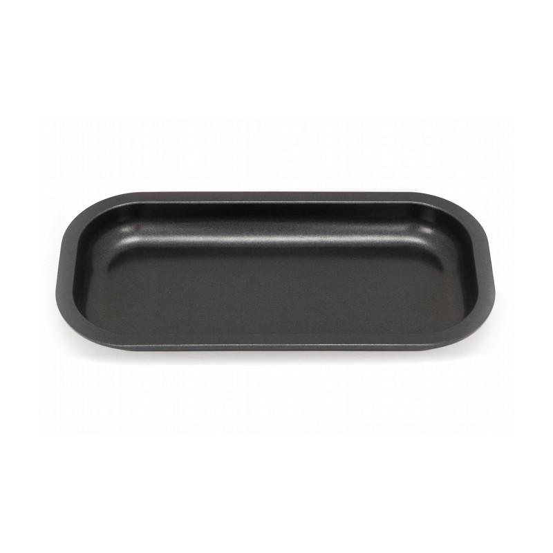 black slx non-stick rolling tray in small size. Teflon ceramic coating