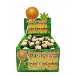 Dr Greenlove cannabis and orange flavour lollipops with bubblegum centre