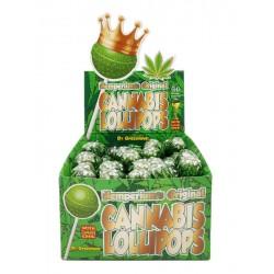 Dr Greenlove original cannabis flavour lollipops with bubblegum centre. For wholesale only