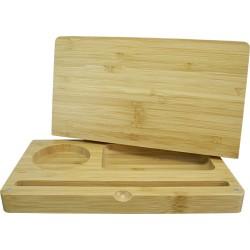 Scatola di rollare realizzato in legno di Bamboo. Puo essere usato come una scatola e anche per rollare