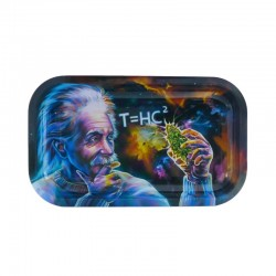 V-Syndiacte tray medium size with Einstein Black hole design. Perfect surface for rolling cigarettes and joints