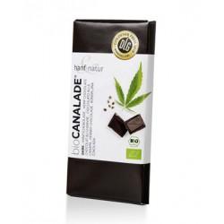 Canalade cioccolato fondente organico con semi di canapa. Box da 10 di 100g