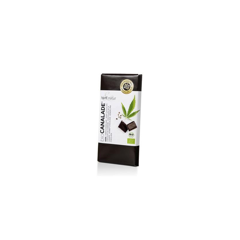 canalade organic dark hemp chocolate box of 10 bars of 100g. For wholesale only to hemp shops, cbd shops, grow shops