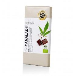 hanf natur canalade cioccolato di latte con semi di canapa 100g