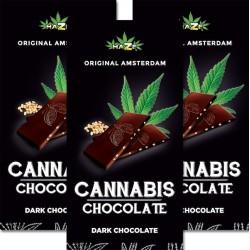 dark hemp chocolate with hemp seeds. Display of 15 bars. Each bar weighs 80g