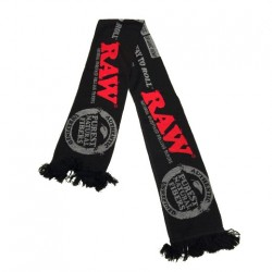 Sciarpa nera di Raw Rolling papers. In vendita all'ingrosso