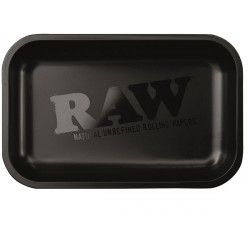 raw matte black metal rolling tray for wholesale
