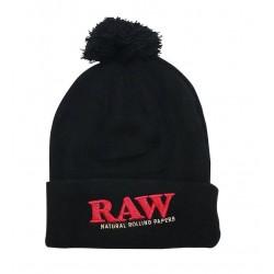 Raw Pom Pom Winter Knit Hat...