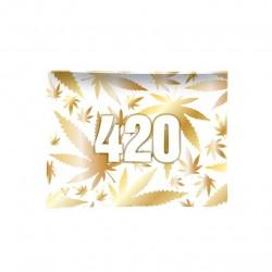 v-syndicate vassoio per rollare in vetro con disegno 420 Oro