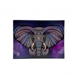 v-syndicate vassoio in vetro per rollare, mistiere con disegno elefante. Confezione di regalo incluso. In vendita all'ingrosso