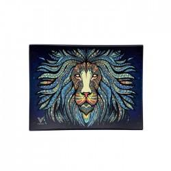 v-syndicate vassoio in vetro con disegno tribal lion