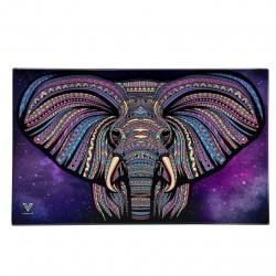 vassoio in vetro grande di v-syndicate con disegno elefante