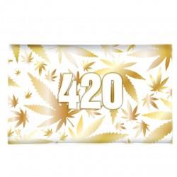 vassoio in vetro con disegno 420 oro