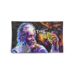 V-Syndicate high quality glass rolling tray with Einstein black hole design. Available exclusively to resellers