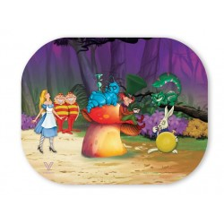 V-syndicate magnetic rolling tray cover with Alice in Wonderland design.
