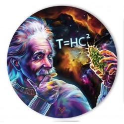 v-syndicate slikks silicone dab mat, black hole Einstein design