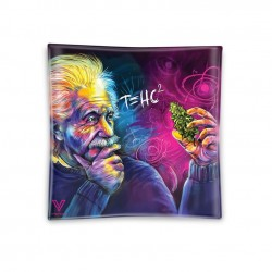 v-syndicate tempered glass ashtray einstein artwork available in wholesale to headshops, growshops, tabacco shops