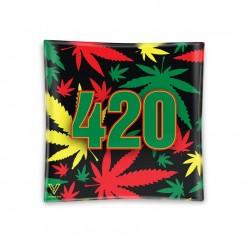 420 rasta glass ashtray by v-syndicate