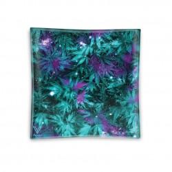v-syndiacte glass ashtray cosmic chronic design cannabis