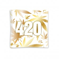v-syndicate tempered high quality ashtrays with gold 420 artwork