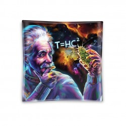 glass ashtray Einstein black hole design. For wholesale to growshops in Italy