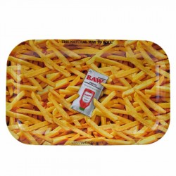 raw rolling papers french fries metal roling tray for wholesale in italy and europe