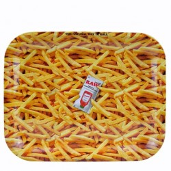 raw rolling papers french fries metal rolling tray for wholesale