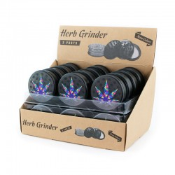 herb grinder with leaf print for wholesale