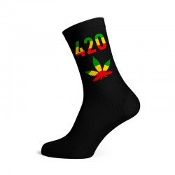 black 420 rasta cannabis socks for wholesale