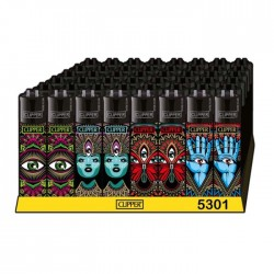 wholesale clipper lighters trippy 3rd eye design