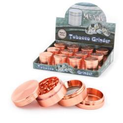 Grinder erba o trita erba oro rosa in metallo. Venduto all'ingrosso confezione da 12 pezzi