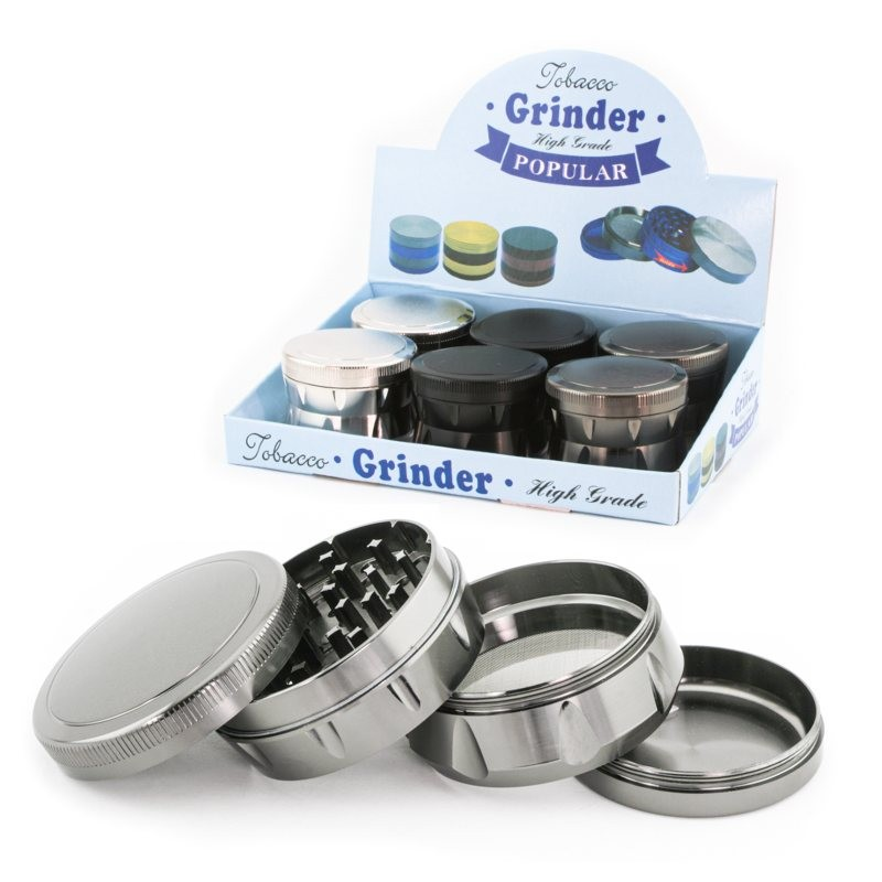 easy grip metal herb grinder 63mm 4 parts for wholesale only