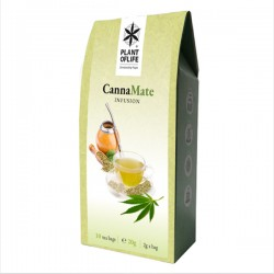 cannamate infusion teabgas with hemp and mate from plant of life