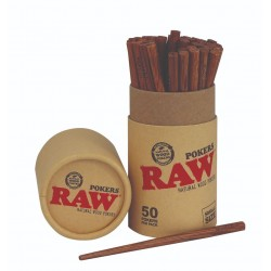 Raw wooden pokers small 113mm