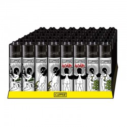 Badass angels classic clipper lighters full retail display of 48 for wholesale