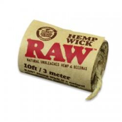 Raw hemp wick bundle of 3 metres. Wholesale shop display of 40 units