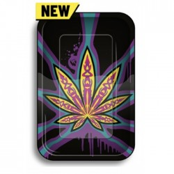 Rolling Tray - Neon Leaves...