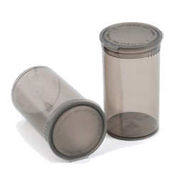 Plastic pop-top containers